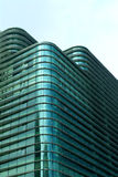 Finamcial building. Futuristic financial district with blue sky Stock Photography