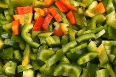 Finamente - close up desbastado da pimenta doce Fotos de Stock