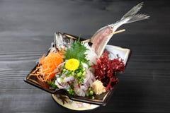 Finamente - sashimi desbastado dos atuns Imagens de Stock Royalty Free