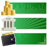 Finança & bandeiras horizontais do dinheiro ilustração stock