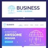 Finança bonita da marca do conceito do negócio, financeira, insura ilustração royalty free