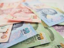Finança, cédulas, dinheiro do baht tailandês Fotos de Stock