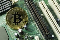 Finança cripto da taxa da moeda, do bitcoin e do computador Imagens de Stock