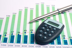 Finança da carta Imagens de Stock