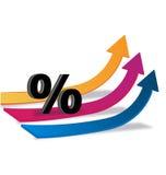 Finança do negócio das setas Imagens de Stock Royalty Free