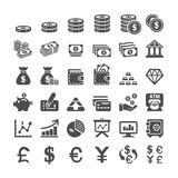 Finança do negócio e grupo do ícone do dinheiro, vetor eps10 Imagem de Stock