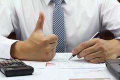 Finança do plano da ideia do homem de negócios boa Imagem de Stock Royalty Free