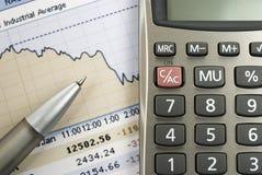 Finança e estoques. Foto de Stock