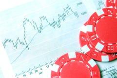 Finança e jogo Fotos de Stock Royalty Free