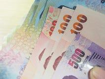 Finança econômica, pilha das notas Imagens de Stock Royalty Free
