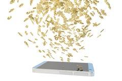 Finança móvel Imagens de Stock Royalty Free