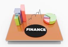 Finança na tabuleta Fotografia de Stock