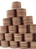 Finança Pyramide Foto de Stock Royalty Free