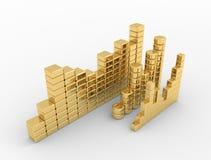 Finanças do diagrama Imagens de Stock Royalty Free