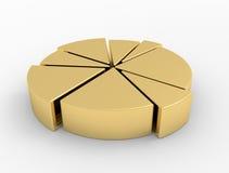 Finanças do diagrama Fotografia de Stock Royalty Free