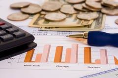 Finanças do negócio Imagens de Stock Royalty Free
