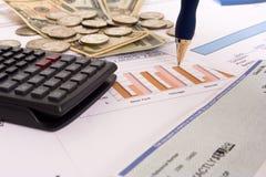 Finanças do negócio Fotografia de Stock Royalty Free