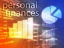 Finanças pessoais ilustração stock