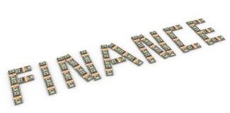 finança do texto 3d Foto de Stock