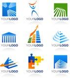 Finança e logotipos e ícones dos bens imobiliários Foto de Stock