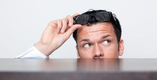 Financal business curious Stock Photos