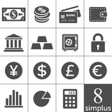 Financal icons set - Simplus series. Finance Icons. Each icon is a single object (compound path Stock Photos