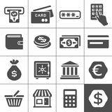 Financal icons set - Simplus series. Finance and money icon set. Simplus series vector icons Royalty Free Stock Photography