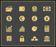Financal icons set Royalty Free Stock Photography