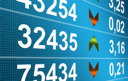 Finance. Business: Blue numbers dynamic design. Finance illustration Stock Photo