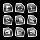 Finance 2 icons, black sticker Royalty Free Stock Photography