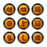 Finance 2 icons, orange series. Vector web icons, orange circle series, V2 Stock Image