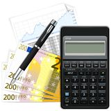 Finance. Vector illustration on white Royalty Free Stock Photography