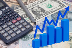 Finance. Graph related to business  economic and finance Stock Photos