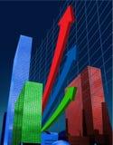 Finance. Analyst company business positivity up Stock Image