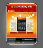 Finance Accounting Web Site Template vector. Finance Accounting Internet Web Site Page Template detailed vector Royalty Free Stock Image
