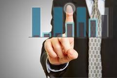 Finance analysis on touchscreen Stock Photo