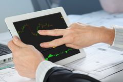 Finance Analyst. A Finance Analyst is analyzing a share momentum stock photos