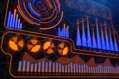 Finance, analytics and banking concept. Creative colorful forex chart background. 3D Rendering Stock Photo