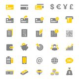 Finance And Banking Silhouette Vector Icon Set Royalty Free Stock Photography