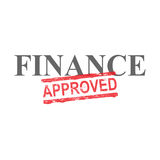 Finance Approved Word Stamp. Finance word with approved stamped across it Stock Image