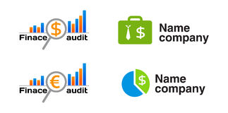 Finance audit icon (logo) Stock Photo