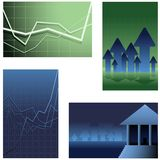 Finance backgrounds. For banner ads or business cards or anything else (vector version has placeholder text Stock Images