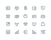 Finance and bank icons. Line series Royalty Free Stock Photo