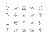 Finance and bank icons. Line series. Finance and bank icons set. Line series Stock Photography
