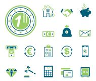 Finance & Bank - Iconset - Icons. Editable Vector Icons royalty free illustration