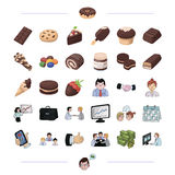 Finance, bank, staff and other web icon in black style.. Finance, bank, staff and other  icon in black style.dessert, sweet, confectioner icons in set Royalty Free Stock Photo