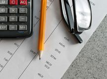 Finance bank statement Royalty Free Stock Images
