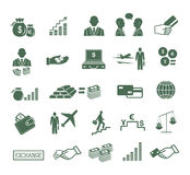 Finance , banking & business icons set. Royalty Free Stock Photography