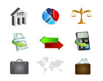Finance banking concept icon set. Illustration design over white Royalty Free Stock Images