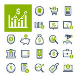 Finance, Banking and Currency (Part 2). A selection of icons related to Finance, Banking and Currency Royalty Free Stock Images
